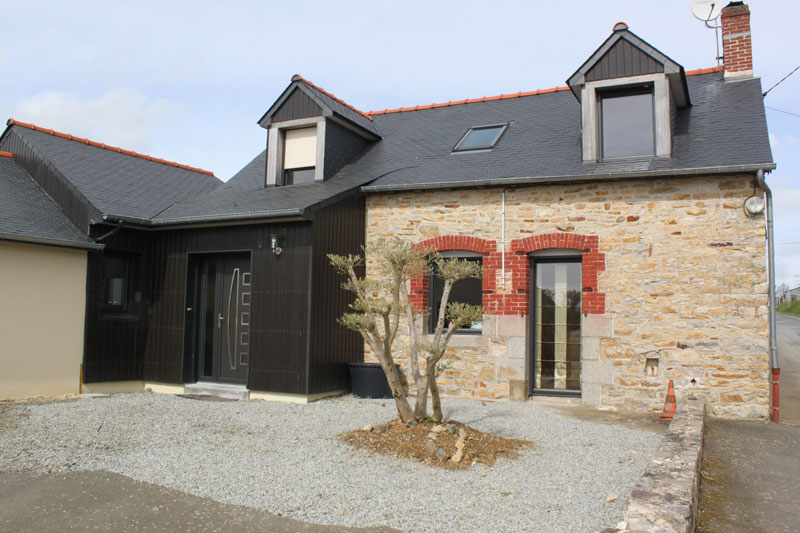 Construction de maisons neuves agrandissement et - Photo maison renovee avant apres ...